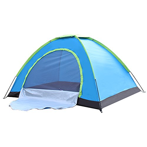 WINMI 2 Person Tent Folding Waterproof Tent Camping Instant Tent for Hiking,Travel,Garden and Outdoor (Blue)