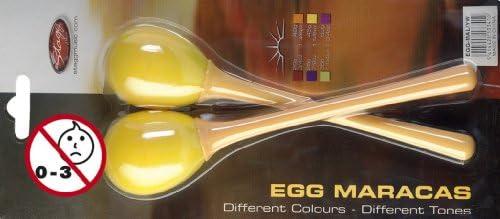 Long Handle Stagg EGG-MA L//YW Plastic Egg Maracas Pair Yellow