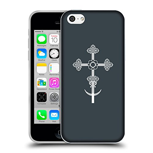 GoGoMobile Coque de Protection TPU Silicone Case pour // Q09290606 Croix chrétienne 39 Arsenic // Apple iPhone 5C