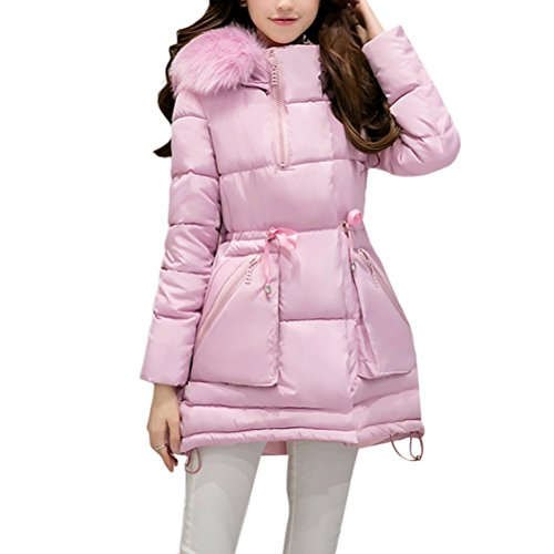 Long Pink Womens Hooded Ladies Hiver Padded Coats Outdoor Cute Outerwear et élégant Down Thick Slim Zhhlinyuan Jacket Chic Warm wqBZRR