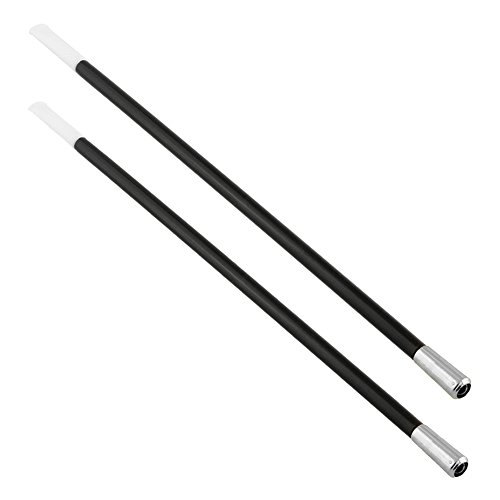 Noir Cigarette Holder | 2 Pcs Stylish Elegant 1920's Long Smoking Pipe Show Prop Toy Flapper Beatnik Costume Accessory for Halloween Party Gatsby Gangster Gift | Premium ABS | Black |