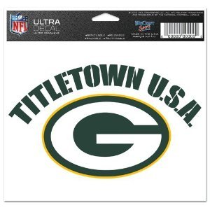 Packers Window Cling (NFL Green Bay Packers 47196011 Multi-Use Colored Decal, 5