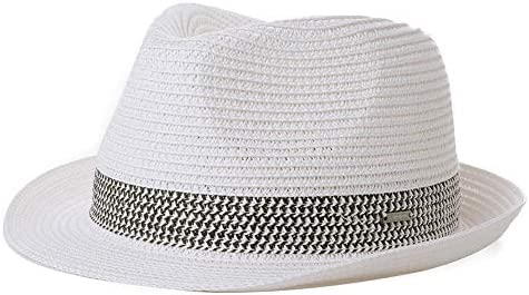 Unisex Fashion Summer Beach Sun Hat Cuban Style Cap White
