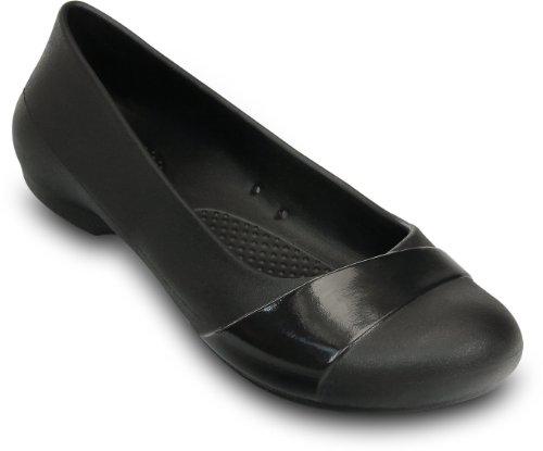 43e103361a7 Damenschuhe Crocs Womens Gianna Flat Patent Overlay Shoes
