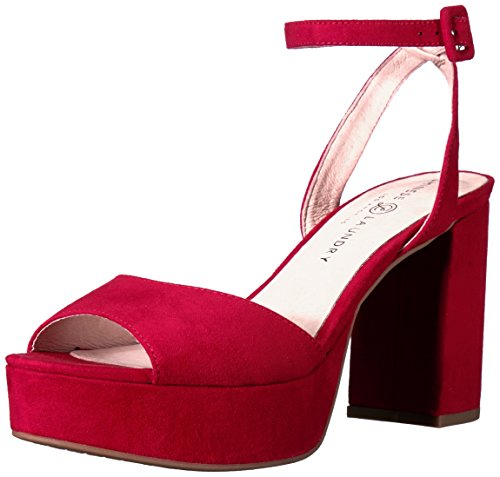 Chinese Laundry Women's Theresa Platform Dress Sandal, Lollipop Red Suede,  8.5 M US