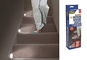 3 motion sensor lights stairs path night led automatic hall hallway bathroom new automatic led stair lighting