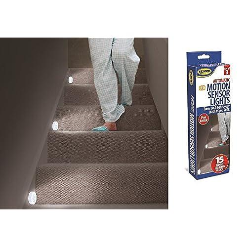 basement stairwell lighting. 3 Motion Sensor Lights Stairs Path Night LED Automatic Hall Hallway Bathroom NEW Basement Stairwell Lighting
