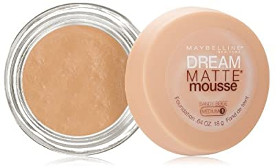 MAYBELLINE NEW YORK Dream Matte Mousse Foundation, Sandy Beige, 0.64 Ounce
