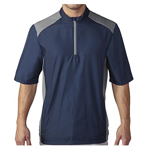 - adidas Golf Men's Golf Club Short Sleeve Wind Jacket, Navy, Large