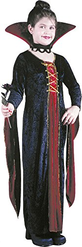 Kids-Costume Victorian Vamp Velv Chd Lg Halloween Costume - Child Large ()