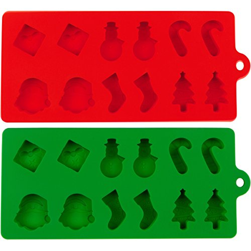 Silicone Mold for Christmas Fudge Shapes