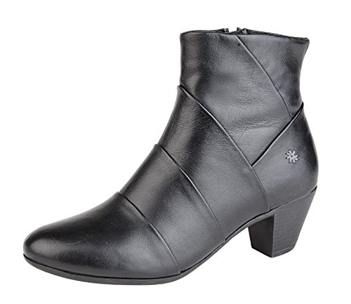 Mid Cipriata 5 4 Comfort Black Memory Ladies 7 Foam Ankle Womens Leather 3 Boots 6 8 Size Heel rqwIrS