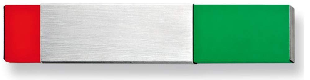 Libre/occupé-affichage support (colle) avec support de marquage = occupées (rouge, vert = libre) à coller sur sol plat dimensions (l x h x p) :  3 x 15 x 0,6 cm vert = libre) à coller sur sol plat dimensions (l x h x p) :  3 x 15 x 0