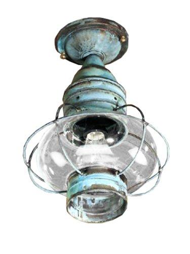 Brass Traditions 623-DB Medium Flush Mount Onion Lantern, Dark Brass Finish Flush Mount Onion Lantern (Medium Onion Flush)