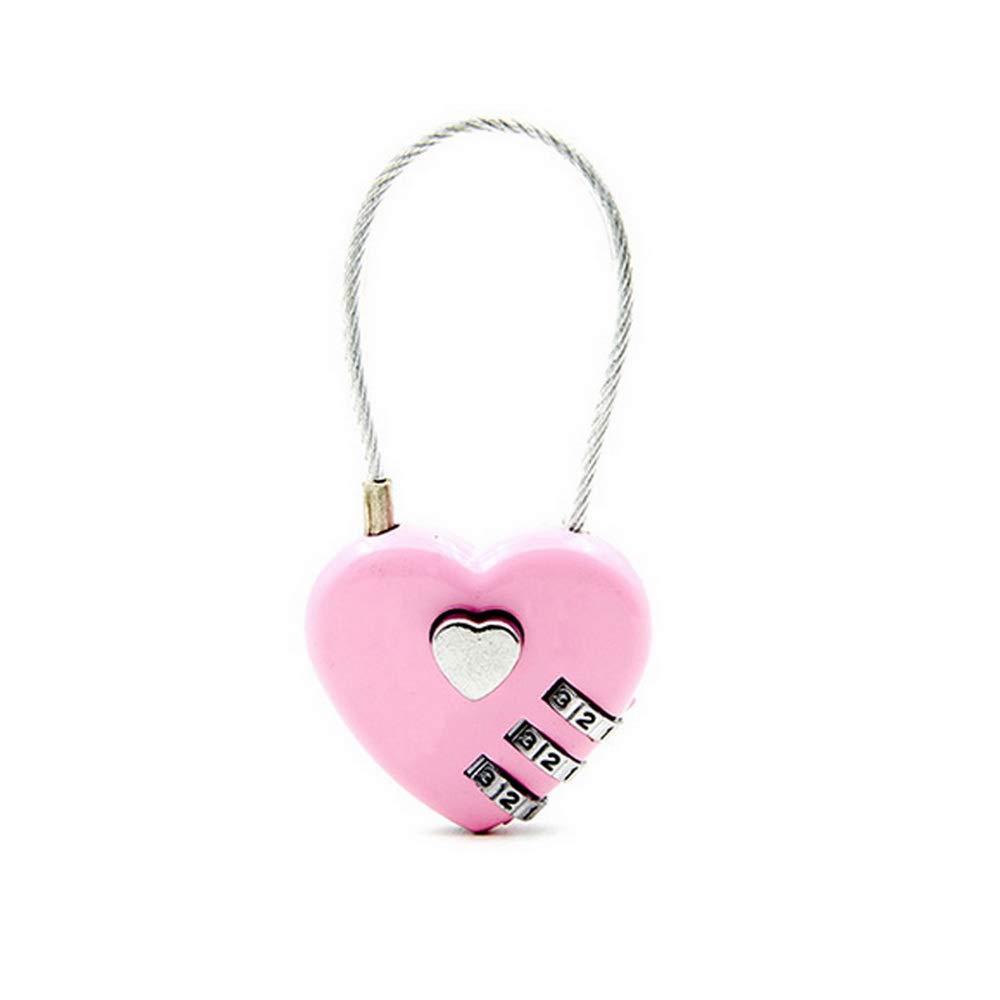 Godagoda Heart Love Password Lock Luggage Password Padlock Double Mood Love Lock Travel Gifts