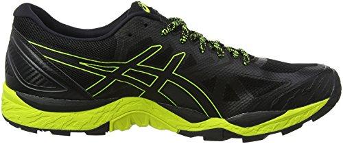 Asics Gel-Fujitrabuco 6 G-TX, Scarpe da Running Uomo Nero (Black/Safety Yellow/Black 9089)
