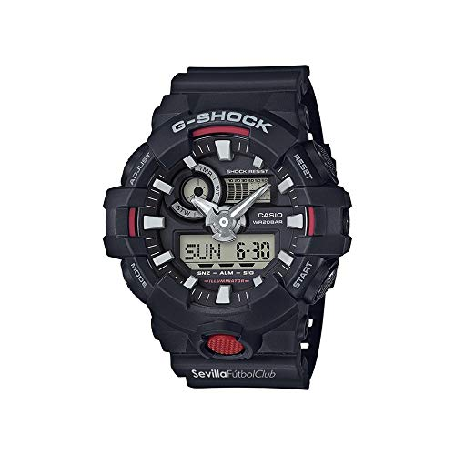 Casio - Reloj CASIO G-Shock Sevilla FC - GA-700SFC-1AER: Amazon.es: Relojes