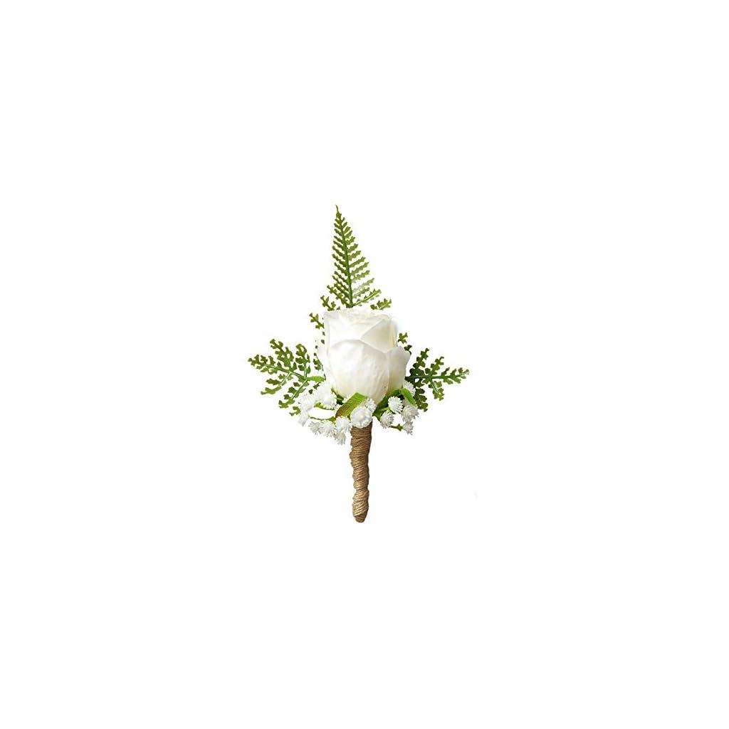 Artificial-Rose-Flower-Groom-Boutonniere-Wedding-Party-Man-Suit-Flowers-Decoration