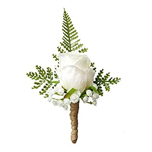Artificial Rose Flower Groom Boutonniere Wedding Party Man Suit Flowers Decoration 1