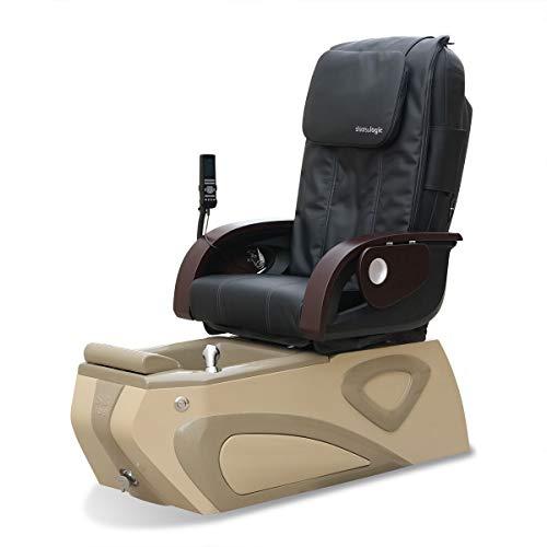 Moderno SB108 Pipeless Spa Pedicure Chair - Magnetic Jet - Robotic Massage (Black)