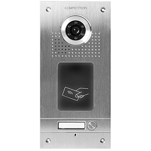 Ae videocitofono a colori monofamiliare da esterno placca frontale in acciaio inox 1 pulsante - Colori da esterno ...