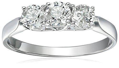 Amazon Collection 14k 3-Stone Diamond Engagement Ring - Size 8