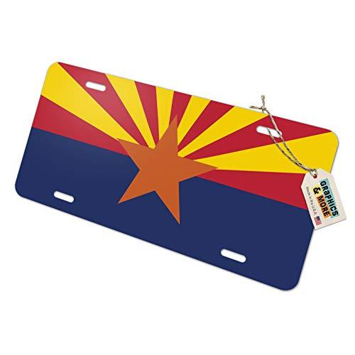 (Arizona State Flag Novelty Metal Vanity License Tag Plate)