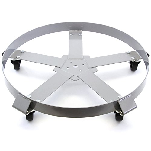 Extra Heavy Duty 55 Gallon Drum Dolly Swivel Casters Steel Frame Non Tip 1250 lbs 5 Wheel Extra Heavy Duty Casters