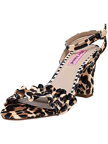 Velvet Leopard Femmes Betsey Tongs Johnson ZwqgPc6fT