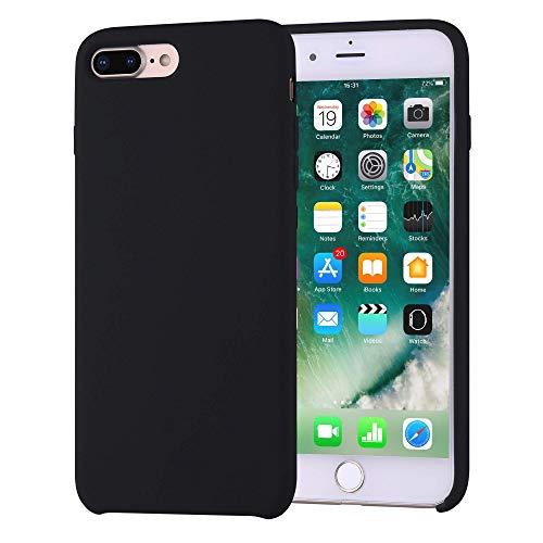 iPhone 7 Plus Case, iPhone 8 Plus Case, Liquid Silicone Gel Rubber Slim Fit Soft Phone Case with Microfiber Cloth Lining Cushion for Apple iPhone 7 Plus, iPhone 8 Plus.