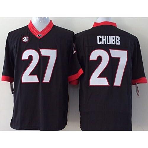 ... NCAA Jersey  the best attitude b73a6 7092c best EVEBEST Mens Georgia  Bulldogs Football Shirt NO.27 Chubb ... 4dfcec858