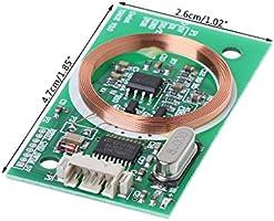 8CM EM4100 RFID Reader Wireless Module UART 3Pin 125KHz DC 5V Reading Sensor Kit