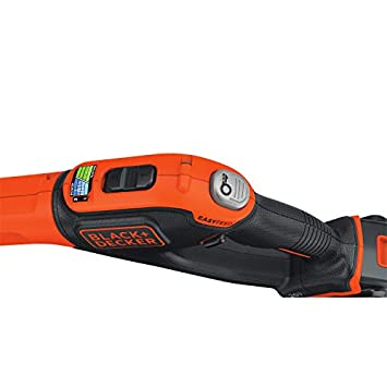 BLACK DECKER LSTE525 20V MAX Lithium Easy Feed String Trimmer Edger with 2 Batteries