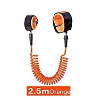 Child Anti-lost Belt, PYHOT 8.2ft/2.5M Walking Baby Anti Lost Safety Wrist Link Bungee Leash Safety Toddler Harness (Orange)