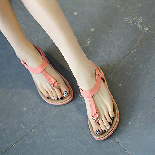 Infradito Rose Heel Sandali Da Romani Spiaggia Pantofole Slippery Scarpe Ladies Low Magicrulu Oq6AIPWURn
