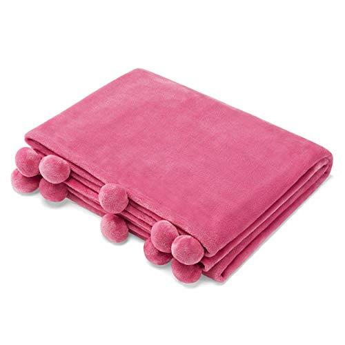 Azalea Skye Salma Pom Throw, 50x70, Pink