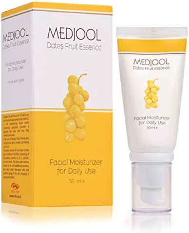 Facial Moisturizer for a Radiant and Smoother Skin 100% Natural with Vitamin E & Date Extract | For All Skin Types 1.7oz