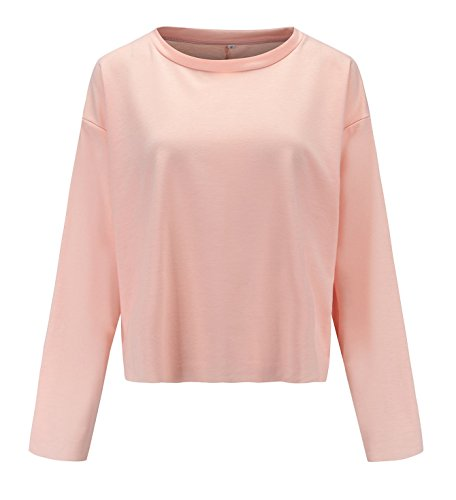 et Col Longues Hauts Automne Shirts Chemisiers Shirts Printemps Waterpik T Couleur Jumpers Blouses Tops Rond Unie Sweat Pulls Manches Fashion Court Pullover Femmes Casual dSfxfP