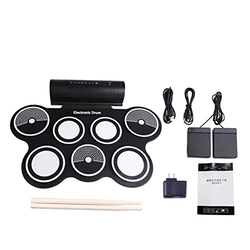 (Digital Foldable Electric Drum Pad Musical Instrument Electronic MIDI Drum Set Silicon Roll-up Drum Kit)