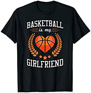 Cool Gift Basketball Is My Girlfriend Basketball Player Gift  Women Long Sleeve Funny Shirt / Navy / S - 5XL