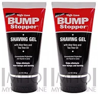 High Time Bump Stopper Shave Gel W/Aloe& Tea Tree Oil 5.3oz (2 Pack)