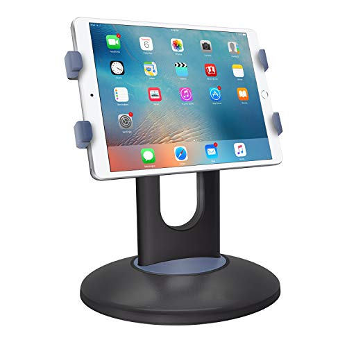 Cellet 3-in-1 Heavy Duty IPad Tablet Stand and Car Headrest Desk Mount, Counter Top, Kiosk 360° Rotation/Durable Base Compatible with Apple IPAD PRO 12.9(2018) Mini AIR 2019 Samsung Galaxy TAB S4 S5E