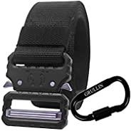 GRULLIN Tactical Belt, Quick-Release Heavy Duty Nylon Riggers Belt, 3.8 cm Military Style Tactical Belt with B