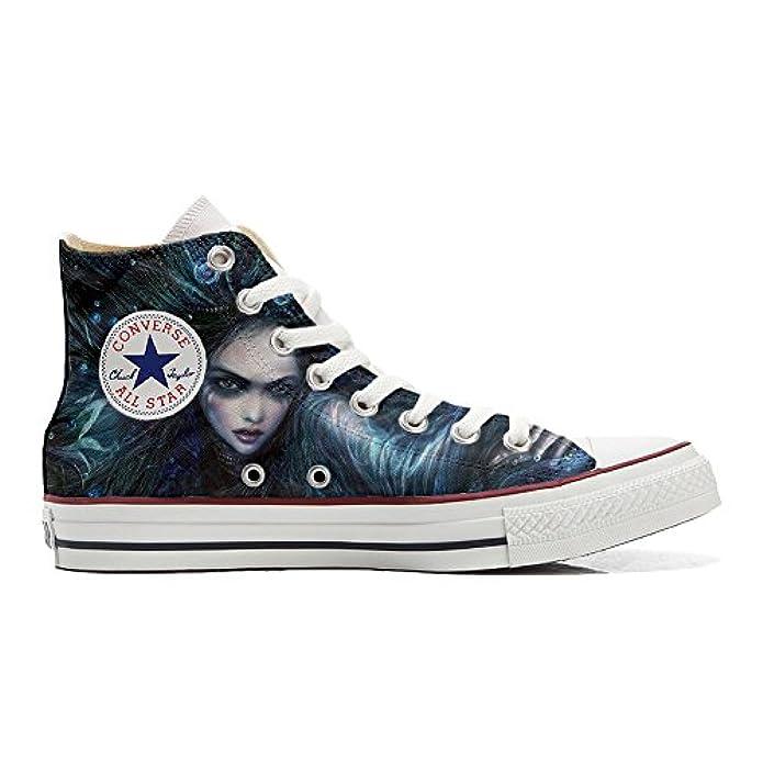 Converse Personalizzate Artigianali Scarpe All Dark Star scarpe