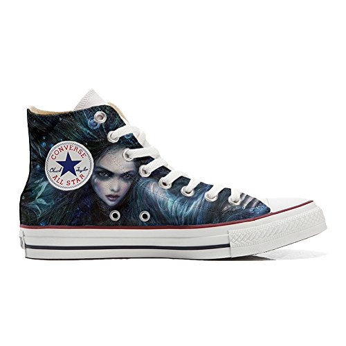 Personalizadas All Dark Zapatos Unisex Star Customized Converse producto 4Rzwq6nwt