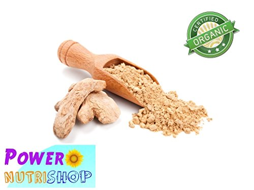(1 LB) 100% ALL NATURAL GROWN ORGANICALLY PREMIUM Ginger Root Ground Ginger Powder by PowerNutri Shop