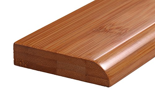 10 Pcs Of 60LFT AMERIQUE Pre-Finished Solid Horizontal Carbonized Bamboo Wall Base Molding Baseboard, 10 pcs total, L: 72