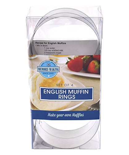 R&M International 2080 English Muffin Rings, Set of 4
