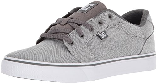 DC Men's Anvil Tx Skate Shoe, Grey Rinse, 7.5 D US