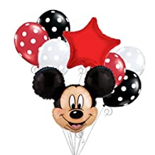 Mickey Mouse Head Balloon Bouquet Set Birthday Baby Shower Party Decoration